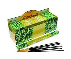 Tulasi Lily of The Valley - Varillas de incienso, lote de 25 paquetes