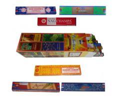 Varillas de incienso Collection 25 fragancia y 6 Cajas Nag Champa fragancia