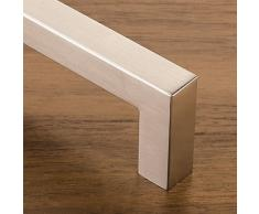 SO-TECH/® Tirador de Mueble NICK acabado de Acero Inox Mate Distancia Agujero 96 mm