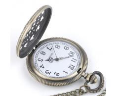 81stgeneration Bronce del reloj de bolsillo colgante de collar de cadena larga