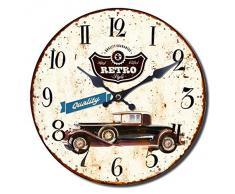Reloj de Pared Coche Retro