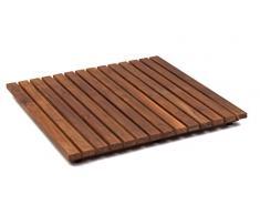 AsinoX TEK4A5050 - Tarima de ducha y baño, madera de teca