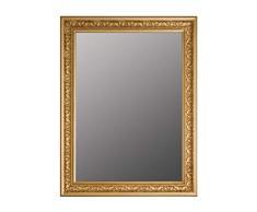 elbmöbel – Espejo de Pared Estilo Antiguo Barroco con Borde Biselado – XL ankleid Espejo Espejo de Cuerpo Entero Perchero Espejo Marco de Madera, Dorado, 82 x 62 cm