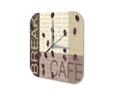 Reloj De Pared Coffee Cafe Bar Strassek pausa para el café Plexiglas Impreso