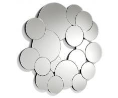 Espejo redondo con círculos irregulares de cristal con acabado biselado - Decoracion Amazon