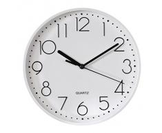 Hama 00123166 - Reloj de pared (AA, Color blanco, De plástico, Vidrio)