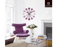 Platin Art Tiempo reloj de pared adhesivo decorativo, diseño con texto en veces