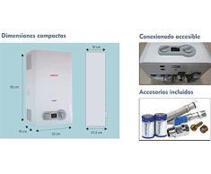 Calentador de agua a gas 10 litros Forcali GAS NATURAL