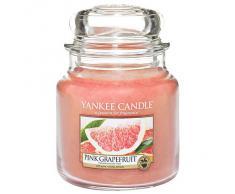 Yankee Candle Classic Housewarmer Mediana, Pink Grapefruit, Vela Perfumada, Ambiente Fragancia en Vaso / Jar, 1332219E