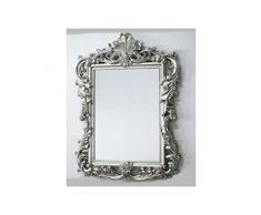 Arte Y Antigüedades Espejo De Pared Blanco-plata Antiguo Barroca Retro 50x76 Shabby Prunk Vintage