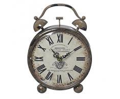Despertador Vintage Port reloj marrón con números romanos