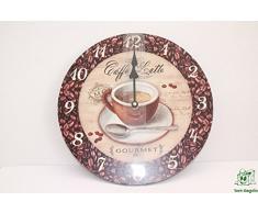 DonRegaloWeb - Reloj de madera DMF decorado con granos de café