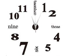 yosso DIY 3d - reloj de pared , negro, estilo 1