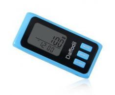 Daffodil HPC650L - Podómetro Multifunción - Memoria de hasta 7 días / Contador de calorías quemadas y monitor de progreso diario [Color azul]