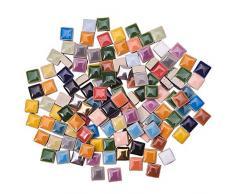 PandaHall 250g Cuadrado Azulejos de Mosaico de Cerámica Piezas Chips Floreros Marcos de Fotos Macetas Piezas de Mosaico para Manualidades DIY Artesanías de Decoración del Hogar