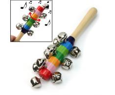 Arco Iris Madera de Campanas Juguetes Sonido Sonajero Instrumento Musical para Niños Bebés