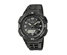 Casio CASIO Collection Men - Reloj analógico - digital de caballero de cuarzo con correa de resina negra (alarma, cronómetro, luz, solar) - sumergible a 100 metros