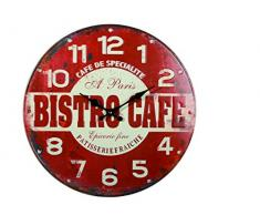 Reloj de pared de metal Retro Bistro Cafe 40 cm