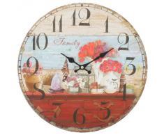 Decoración Para El Hogar Hecho De MDF Estilo Vintage Shabby Chic Reloj Antiguo De Pared Con Las Manecillas Decorativas-Escena de Familia