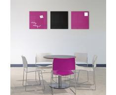 Smart Glass Board ® Pizarra de cristal magnética / Tablero de notas magnético en vidrio + 2 Imanes SuperDym, 48 x 48 cm, Púrpurá