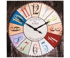 Kare Design - Reloj de pared (80 x 80 cm), diseño de bistró