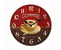 Nostálgico reloj de tazas de café con aspecto envejecido 30 cm alrededor de - Tinas Collection - diseño un poco diferente