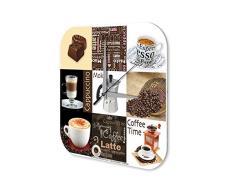 Reloj De Pared Restaurante Cocinas DecoraciÛn Marke CafÈ Cappuccino Espresso Moka Plexiglas Imprimido 25x25 cm