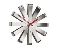 Umbra 118070-590 Ribbon - Reloj de pared (30 cm), acero