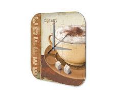 Reloj De Pared Coffee Cafe Bar Café crema taza de azúcar Plexiglas Imprimido 25x25 cm