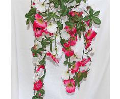 Homescapes planta artificial colgante Pensamiento color Amarillo y Rosa