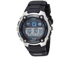CASIO Collection AE-2000W-1AVEF - Reloj de caballero de cuarzo, correa de resina color negro (con cronómetro, alarma, luz)
