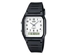 CASIO Collection AW-48H-7BVEF - Reloj de caballero de cuarzo, correa de resina color negro (con cronómetro, alarma)