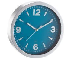 Kela 17160 - Reloj de pared con esfera, plástico, 20 cm, color turquesa