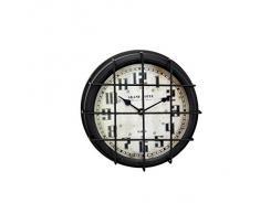 Hisahome - Reloj de pared, 24 x 8 cm, metal, diseño Grand Hotel
