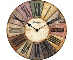 RELOJ DE PARED DISENO HOMETIME REDONDO SHABBY NOSTALGIA MULTICOLOR 30CM - Tinas Collection