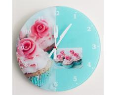CEXPRESS - Reloj de cristal para cocina con diseño magdalenas