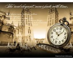 KS Reloj de Bolsillo de Cuarzo Estilo Vendimia, Caja de Acero Inoxidable KSP001