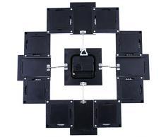Soledi Reloj de Pared Diseño Marcos de Fotos 36.5 x 36.5 cm