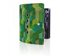 banjado - acero inoxidable Armario para llaves de Burg-Wächter con diseño en forma de cubo verde