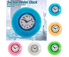 Bluelover Baño Pared Impermeable Resistente Reloj Temporizador Succión Taza - Amarillo
