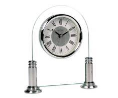 Acctim 36427 Bewdley Reloj de chimenea, color plateado y blanco