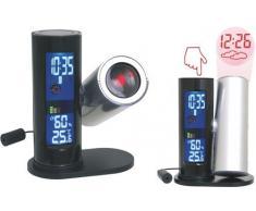 Reloj con alarma, higr-metro, term-metro, estaci-n meteorol-gica y proyector de hora.