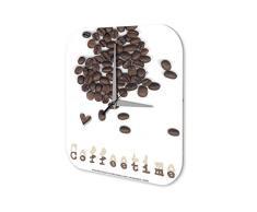 Reloj De Pared Cocina Retro Strassek la hora del café Plexiglas Impreso