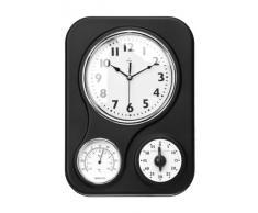 Premier Housewares - Reloj de pared con termómetro y temporizador de cocina, color negro