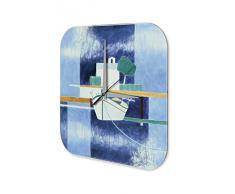 Reloj De Pared Gira Mundial Marke Pintura Embarcadero Plexiglas Imprimido 25x25 cm
