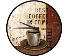 Nostalgic Art 51048 Best Coffee in Town - Reloj decorativo de pared