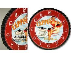 DonRegaloWeb - Reloj de cocina - Reloj de pared de metal con decoración de cocina vintage