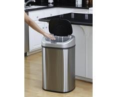 Nueva 2017 grande 80L Duo ECO Recycle reciclado, a prueba de huellas, color plateado cepillado de acero inoxidable cocina residuos papelera de polvo con tapa de cierre silencioso. Este doble compartimento 40 litros en cada lado.