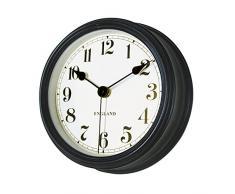 Vintage Redondo Reloj De Pared De Cuarzo Tiempo No Marcando La Oficina De La Casa Dormitorio Cocina Nueva (Negro)