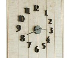 Malloom DIY auto-adhesivo reloj calcomanía moderna Número digital decoración del reloj